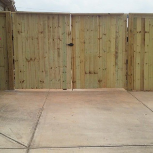 a privacy fence for the home
